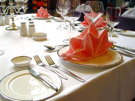 WEDDING BANQUET TABLE DETAILS                                 Stock Photo - 813431