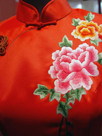 embroidery: Chinese kleding Stockfoto