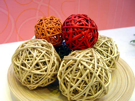 wattled handicraft sphere                                 Stock Photo - 813438