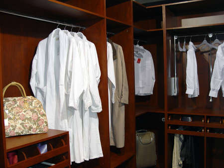 shirts on hangers: DRESSING ROOM