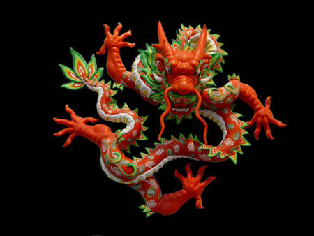 godliness: dragon with black background