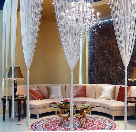 Luxury modern living room with nice sofa                               Stock Photo