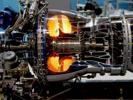 thrust: The engine of airplane                                Stock Photo