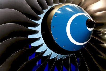 turbofan: engine blades Stock Photo