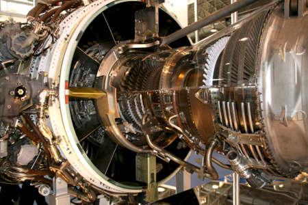 mechanical engineering: The engine of airplane Stock Photo