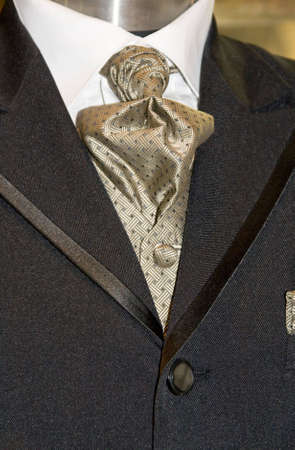 A modern tie and a white shirt and suit  Stock Photo
