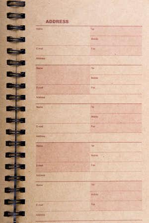 directory book: An open old address book