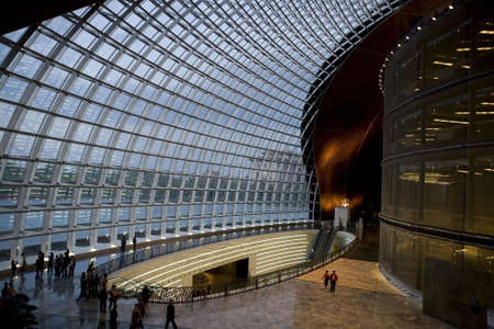 performing arts: national center for the performing arts with a glorious interior