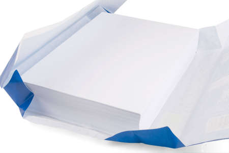 white A4 papers for copiers and printers Stock Photo