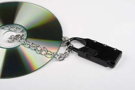 compact disk: The Compact disk is locked on white background