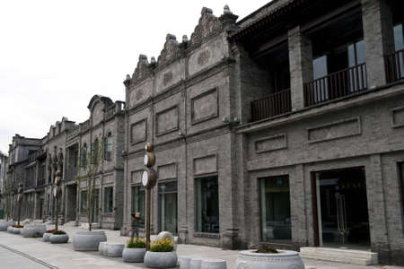 reconstruct: reconstruct oldest Qianmen commercial street in Beijing, China