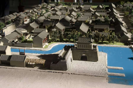 oldest: Old Beijing street and residential areas  model  Stock Photo