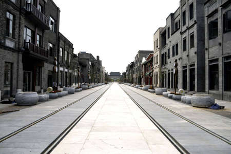 reconstruct: reconstruct oldest Qianmen commercial street in Beijing, China