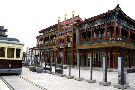 reconstruct: reconstruct a oldest building in Qianmen commercial street in Beijing, China