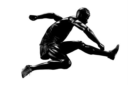 contestant: Runner mannequin silhouette isolated over a white background