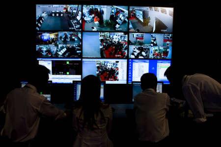 guarda de seguridad: sistema de seguridad de circuito cerrado de televisi�n con m�ltiples puntos de vista de c�mara en China Foto de archivo