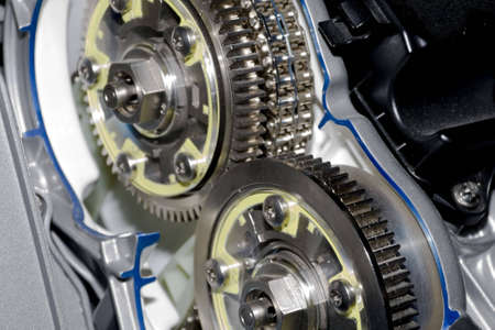 gearbox: Gearbox cut-through view  Stock Photo