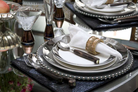 Dining table in a dining room Stock Photo - 4024026