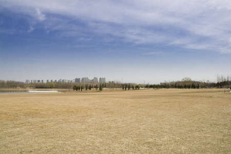 A Great Lawn in Central Park, Beijing City photo