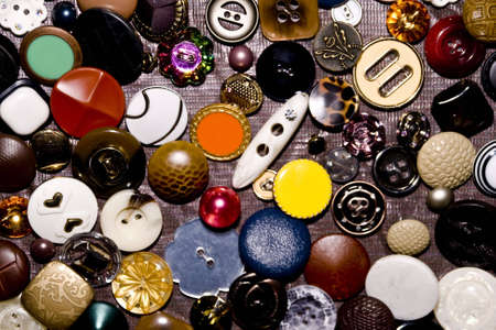 assorted buttons as colorful background Stock Photo - 4603225