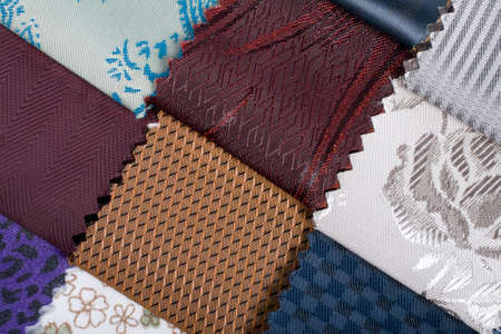 Has the colorful textiles swatches and samples background Stock Photo - 4636846