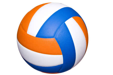 volley ball: A colorful volleyball ball isolated on white