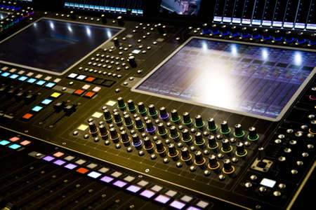 professional audio mixer desk at he Concert Stock Photo - 4942515
