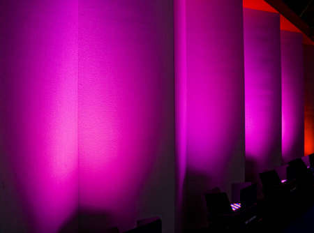 irradiate: colorful light show in the walls Stock Photo