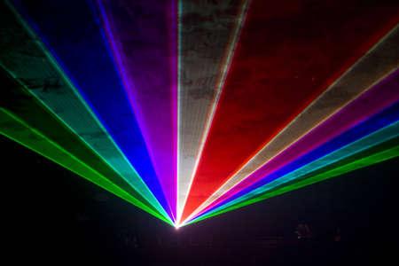 Kleurrijke Disco met speciale effecten en fantastische laser weer geven