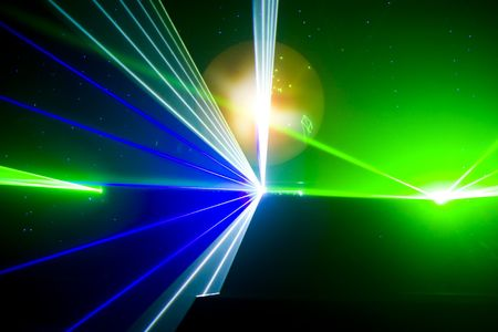 laser show: Colourful Disco with special effects and fantastic laser show