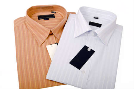 Striped shirts isolated on the white background Stock Photo - 5074078