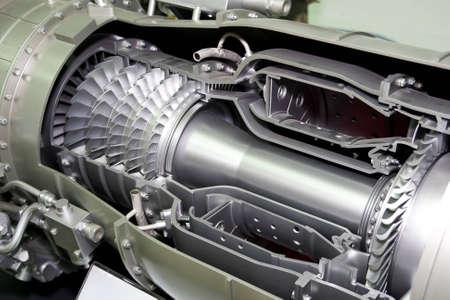 turbofan: un avi�n de detalle de motores a reacci�n en la exposici�n de