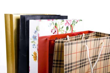 Shopping Bag close up shot on white background photo