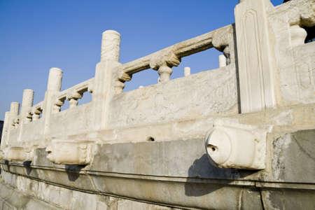 parapet wall: marble balustrade at the beijing china