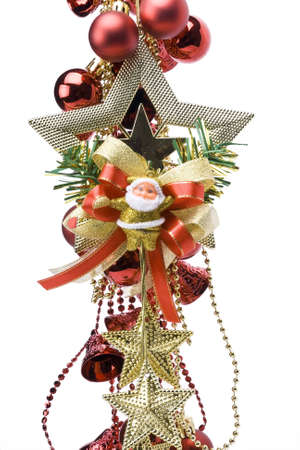 Christmas decoration star on a white background photo