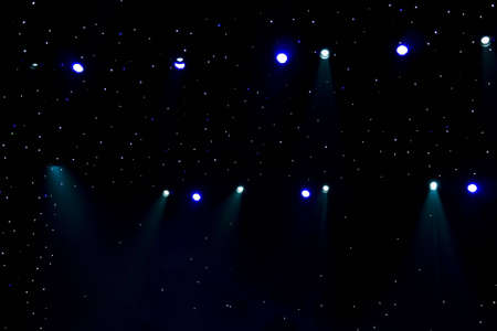 irradiate: Beautiful stage lighting with starry sky  Stock Photo
