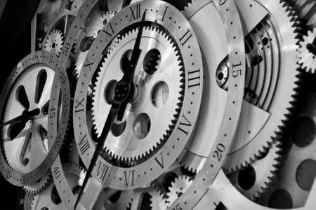 num�rico: Detalle de engranajes de obras de reloj. Foto de archivo