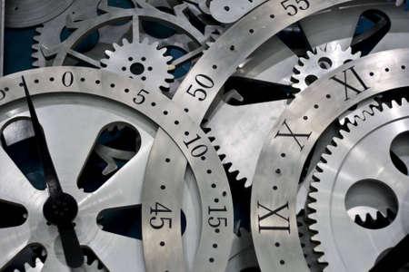 num�rico: Detalle de engranajes de obras de reloj.