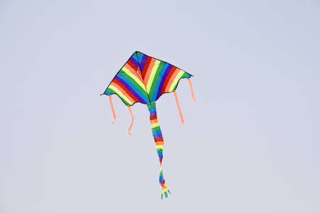 colorful kite flying in the blue sky Stock Photo - 6835286