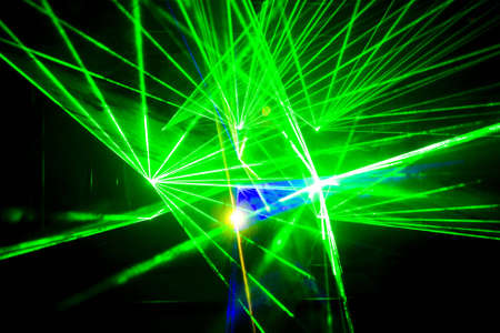 Colourful Disco with special effects and fantastic laser show Stock Photo - 7033430