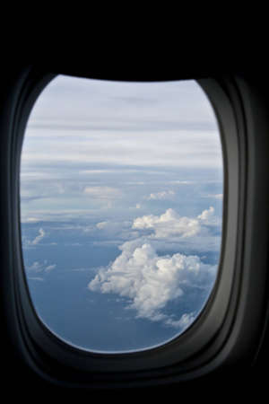 A view of clouds from an airplane window. Stock Photo - 7545885
