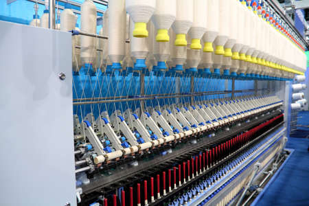 Cotton yarn production in a textile factory  Stock Photo - 9103502