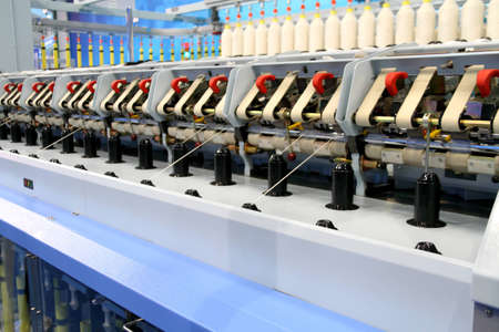 Cotton yarn production in a textile factory Stock Photo - 9103485