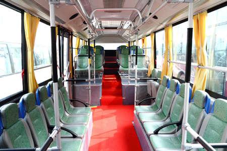 bus tour: city bus interior,no passengers