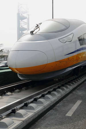 Modern high speed bullet train in China Stock Photo - 9103483