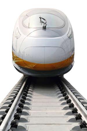estacion de tren: Tren bala de alta velocidad moderno en China