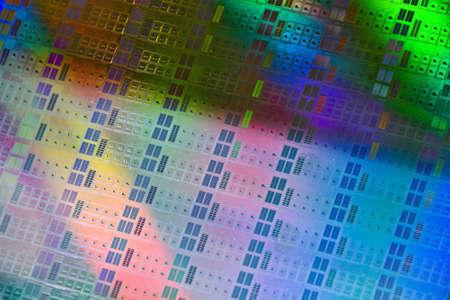 silicio: Cerca de una oblea de silicio