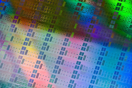 wafers: Close up of a silicon wafer