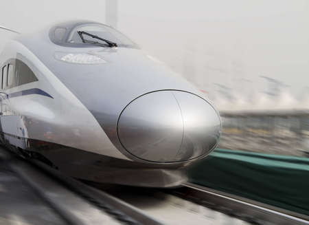 bullet train: Modern high speed bullet train in China Editorial