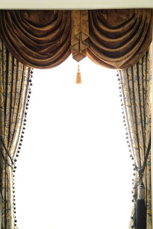 Luxury curtain in the window in room photo